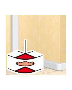 Variabel buitenhoek DLP design 65 x 150 mm