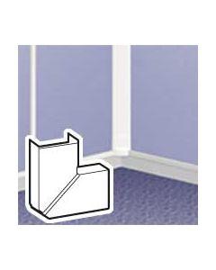 Variabele platte hoek DLP lijst 32 x 12,5 mm - wit