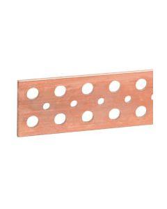 Koperen staaf 50x5mm -l.1750mm Met gladde gaten - 700/630A