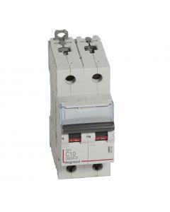 Autom. DX³ 6000A/10kA 2P C10 400V 2 modules