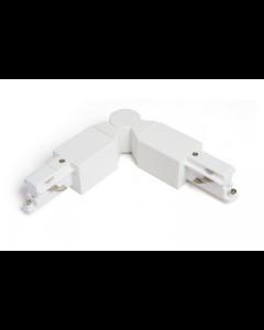Regelbare connector tot 90° Wit voor Teco 3P-Track