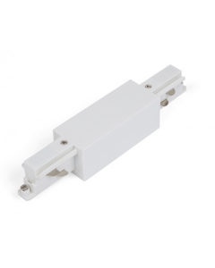 Rechte connector met voedingspunt Wit voor Teco 3P-Track