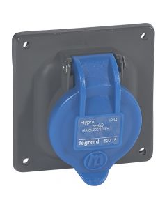 Half-inbouw contactdoos Hypra IP44 - 200-250V - 16A - 3P+A